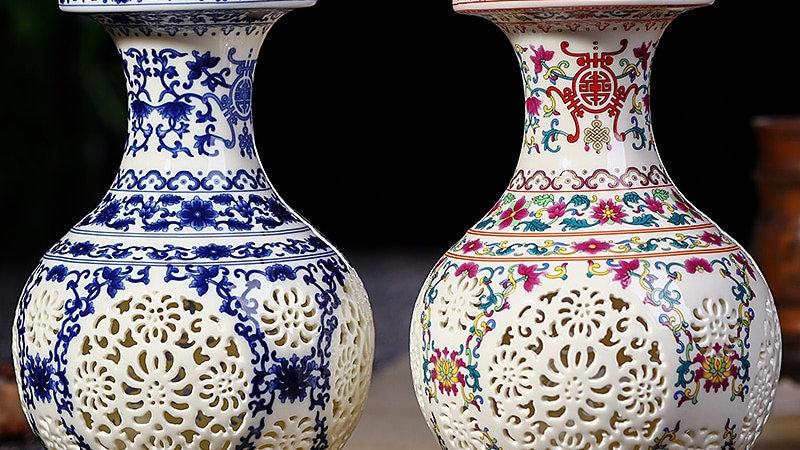 Antique Jingdezhen Ceramic Vase  Handicraft