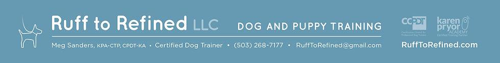 Ruff to Refined Dog and Puppy Training Beaverton Oregon
