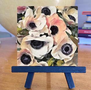 Oil on canvas 7x7 cms.