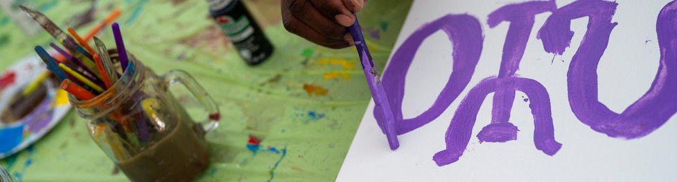 Participant/Volunteer Painting with Finding Blank!