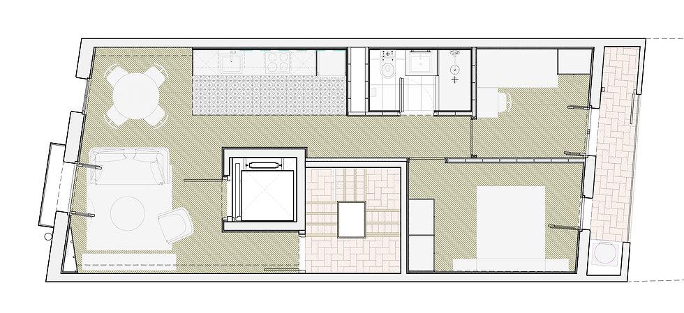 Proposta del projecte d'habitatges unifamiliars adosats Pasteur, Igualada / Propuesta de viviendas unifamiliares adosadas Pasteur, Igualada / Proposal for the single-family housing development Pasteur, Igualada.
