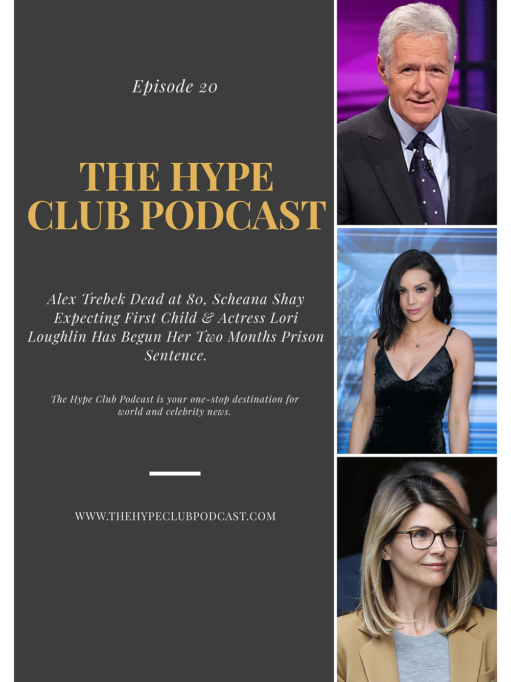 Alex Trebek/Scheana Shay/Lori Loughlin