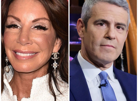 "EX #RHONJ Danielle Staub Comes For Andy Cohen While Promoting Her New Podcast ""Absolutely Danielle""."