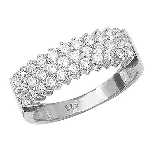 Ladies Silver CZ Ring