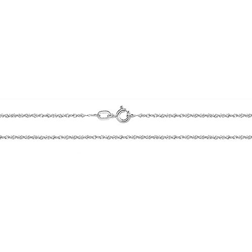9ct White Gold DC Chain