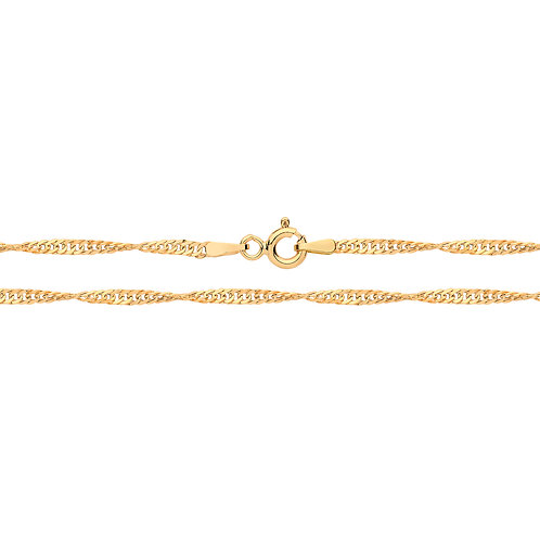 9ct Yellow Gold Hollow Singapore Chain
