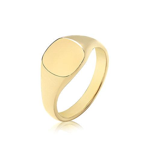9ct Yellow Gold Cush Signet Ring