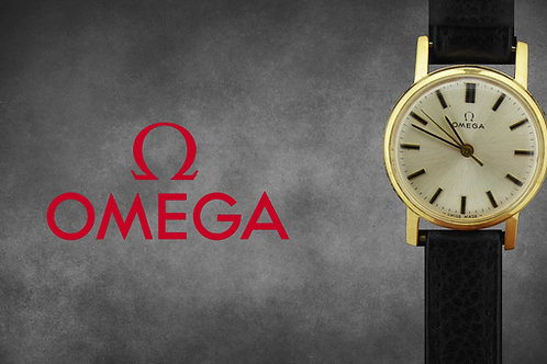 Ladies 9ct Gold Omega Geneve