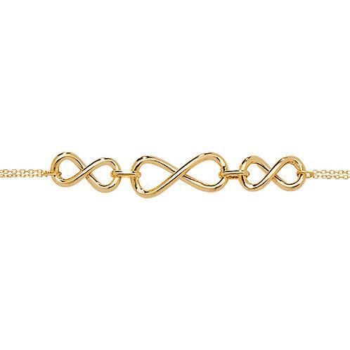Ladies Triple Infinity Bracelet