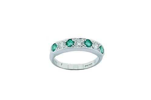 18ct Emerald & Diamond Eternity Ring