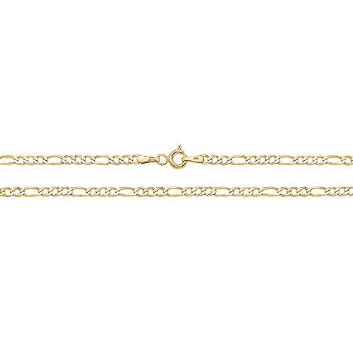 9ct Yellow Gold Figaro Chain