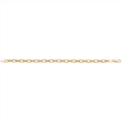 9ct Yellow Gold Fancy Curb Bracelet