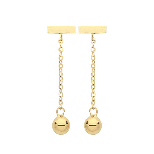 Bar & Bead Drop Earrings