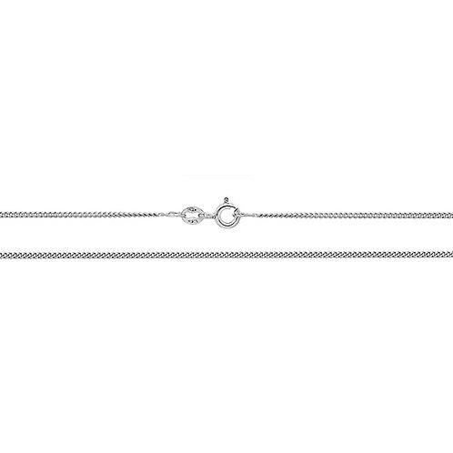 White Gold Close Curb Chain