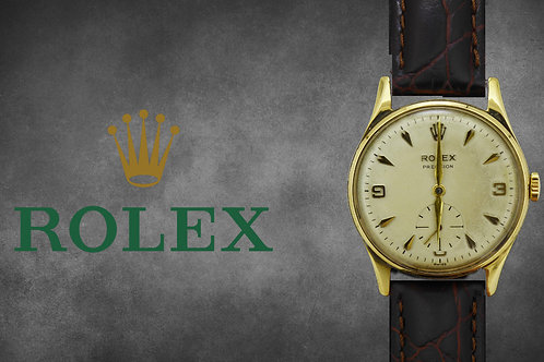 Gents 9ct Gold Rolex Precision