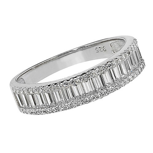 Ladies Silver CZ Ring