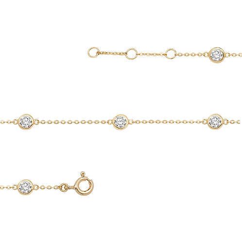9ct Yellow Gold CZ Bracelet