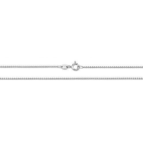 9ct White Gold Box Chain