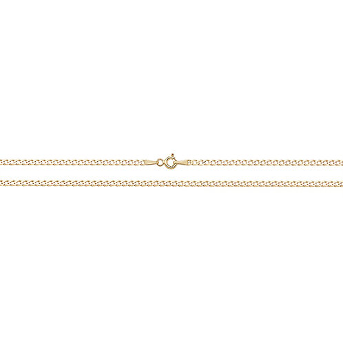 9ct Gold Flat Curb Bevelled Chain