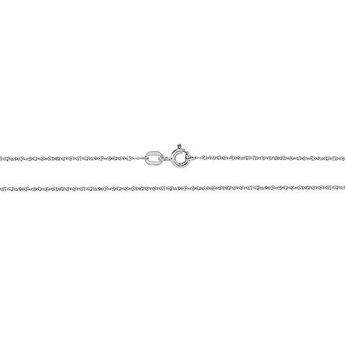 9ct White Gold Diamond Cut Chain