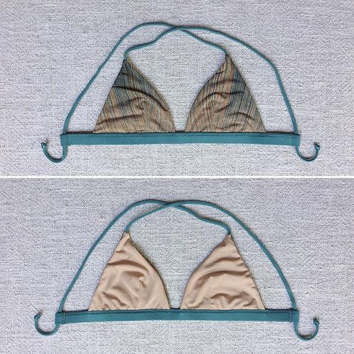 Berawa Bikini V2 Top Frost Beige Strips