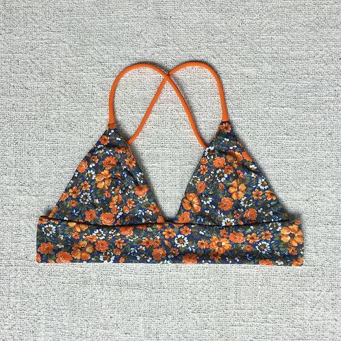 Uluwatu Bikini Top Orange Floral