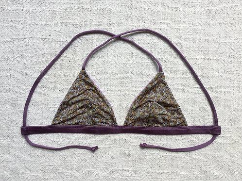 Berawa Bikini Top Shiny Lilac Floral