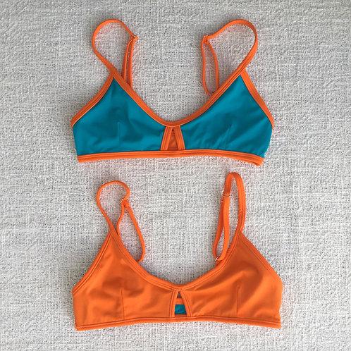 Stargazer Bikini Top - Tosca Orange
