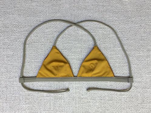 Berawa Bikini Top Terracotta Mustard