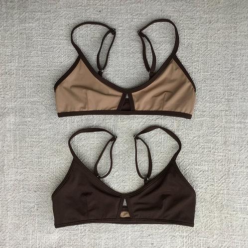 Stargazer Bikini Top Nude Chocolate
