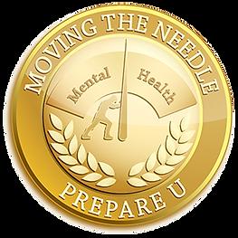 Prepare U Small Moving The Needle Badge.