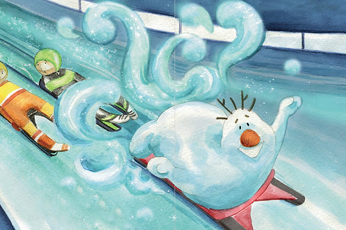 Snowman Paul at the Winter Olymics