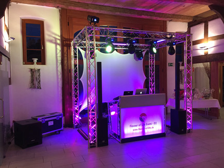 Dj Setup Hochzeit Dallmanns Deele mit XPRS Lite Console
