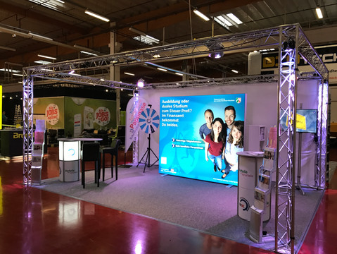 Messestand in Alutruss