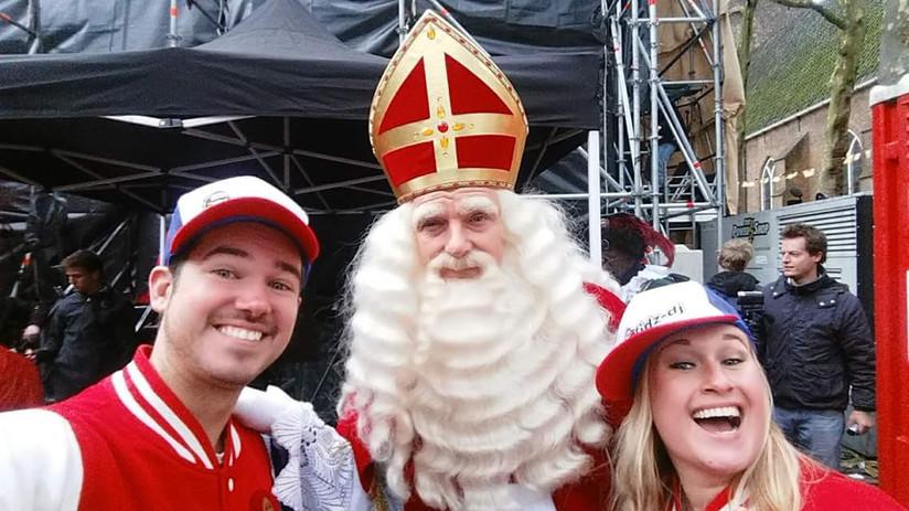 Tijdens de landelijke intocht van Sinterklaas