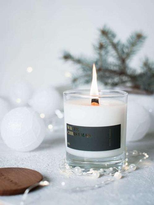 White Candle Соевая свеча с деревянным фитилем White Christmas 200 мл