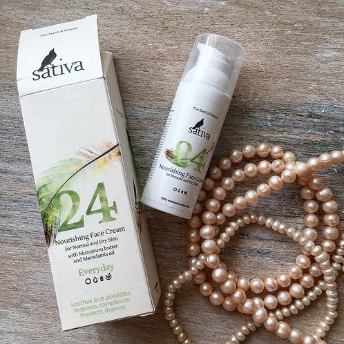 Sativa Крем  №24 для лица «Питательный»  для нормального и сухого типа кожи