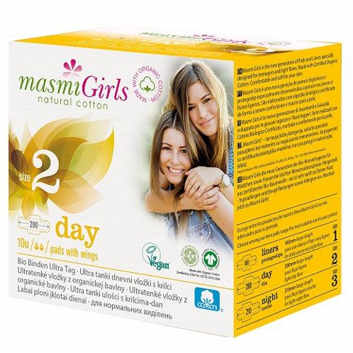 Masmi Girls Гигиенические прокладки с крылышками (дневн) для девочек 10 шт