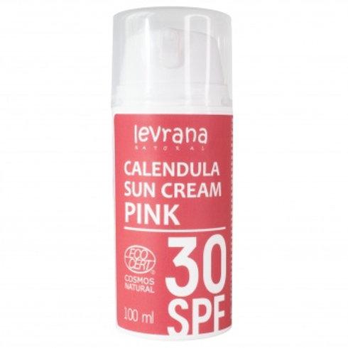 Levrana Солнцезащитный крем для лица и тела Календула 30 SPF PINK, 50мл.