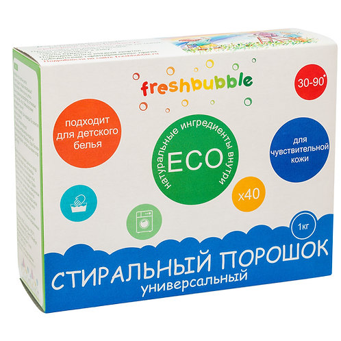 Freshbubble Порошок для стирки универсальный 1 кг
