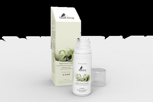 Sativa Крем 25 для лица ночной (нормальная, комбинированная кожа)  50 мл»