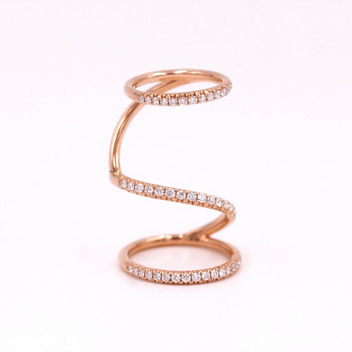 18K Rose Gold Movable Diamond Ring