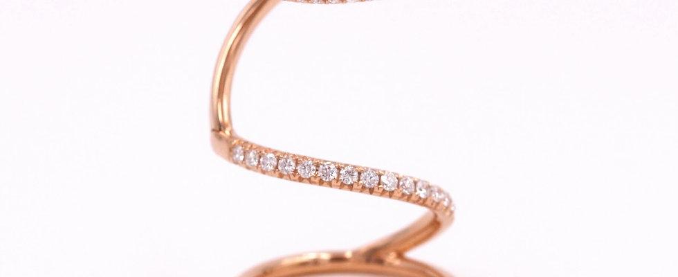 18K Rose Gold Movable Diamond Ring