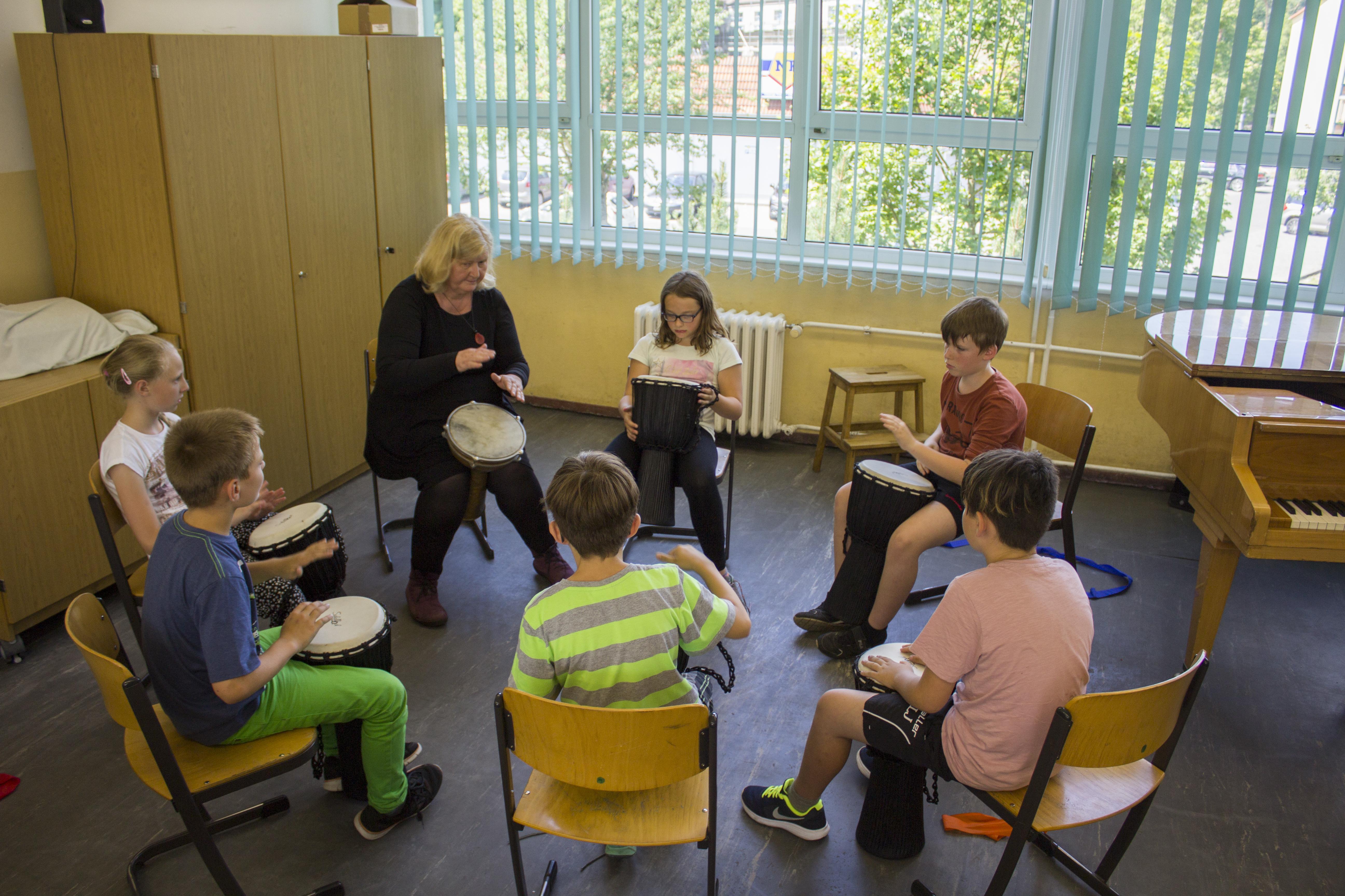Musikkurs in der Grundschule