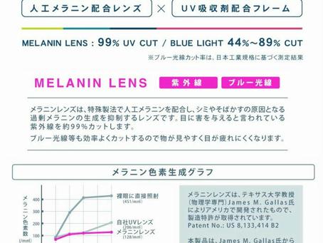 ブルーライト+紫外線カットサングラス メラックス入荷