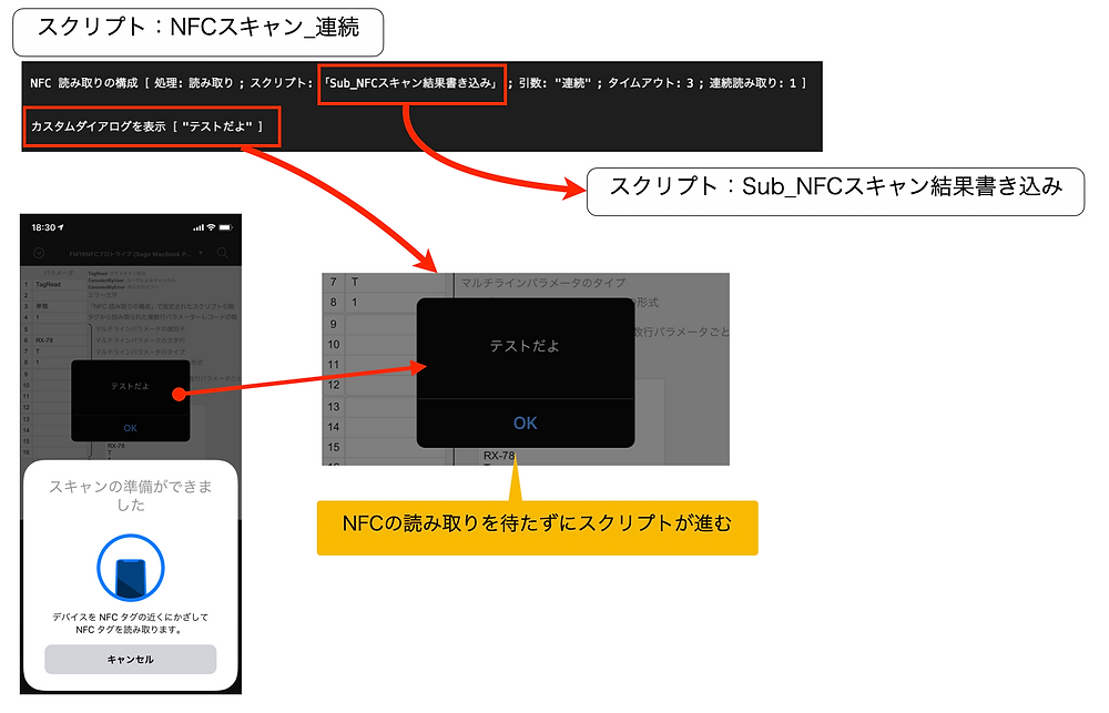 NFC 読み取りの構成 注意点