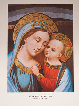 Impresión tamaño A4 de Nuestra Señora del Buen Consejo.