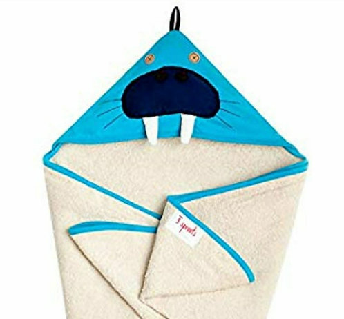 3 Sprouts Personalized Warlus Hooded Towels