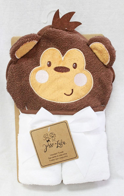 Personalized hooded towel- monkey