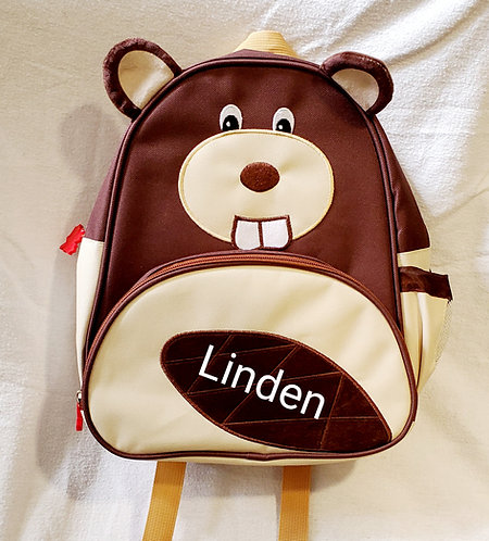 Personalized Backpack-Beaver